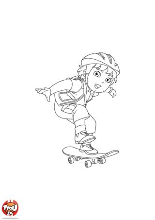 Coloriage: Diego skate