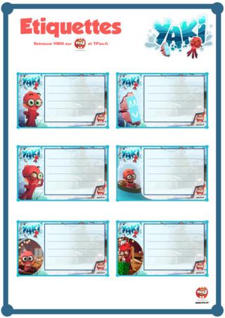 Afin d'être prêt pour Noël, Yaki te propose de superbes étiquettes cadeaux pour décorer tous tes paquets. Imprime gratuitement tes étiquettes sur TFou.fr. Tu trouveras également plein de coloriages et activités pour passer de bonnes fêtes de Noël.