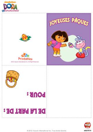 Carte de voeux Pâques Dora