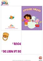 Pâques carte de voeux Dora