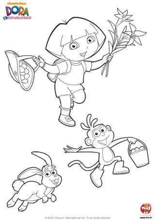 Imprime ton coloriage de Dora l'Exploratrice