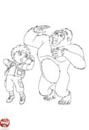 Diego et le gorille