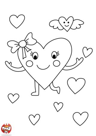 Un coeur parmi les coeurs ! Ce coloriage est si mignon pour la Saint Valentin. Imprime-le vite gratuitement sur TFou.fr et colorie-le ! Offre le vite à ton amoureux.