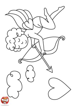 Cupidon est prêt à envoyer sa flèche ! Il adore le 14 février pour célébrer la fête des amoureux. Sur TFou.fr, imprime également plein de coloriage Saint Valentin.