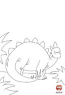 Le dinosaure se cache