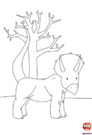 Le petit dinosaure et l'arbre