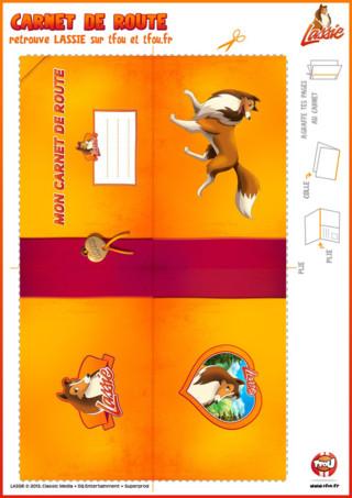 Plonge dans l'univers de Lassie avec ce carnet de route exceptionnel. Imprime cette activité gratuite pour enfants sur TFou.fr Tu aimes Lassie et tu aimes voyager ? Alors ce carnet est fait pour toi. Car le sais-tu, un carnet de route est un moyen de se remémorer plus tard des souvenirs. Tu pourras par la suite partager ces souvenirs avec tes parents, ta famille et même tes amis à ton retour. Alors prend un stylo et commence à écrire, et ou coller tes souvenirs de vacances. A bientôt sur TFou.fr pour de nouvelles aventures de Lassie ton héroïne préférée.