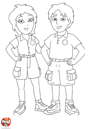 Coloriage: Parents de Diego