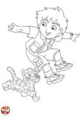 Diego saute avec la panthère