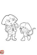 Dora et Babouche en hiver