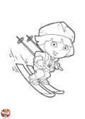 Dora au ski
