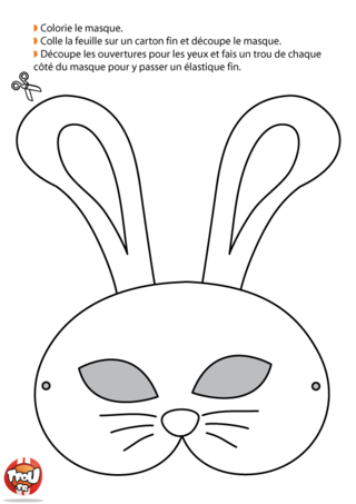 Déguise-toi en lapin en imprimant ce masque de lapin ? C'est gratuit sur TFou.fr ! Tu trouveras plein de masques de Carnaval pour finaliser ton déguisement.