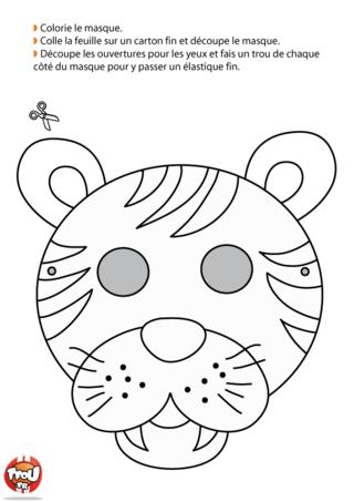 Tu veux te déguiser en tigre ? Ce masque à colorier de tigre te fera super plaisir ! Imprime, découpe et colorie ce joli masque pour le Carnaval sur TFou.fr.
