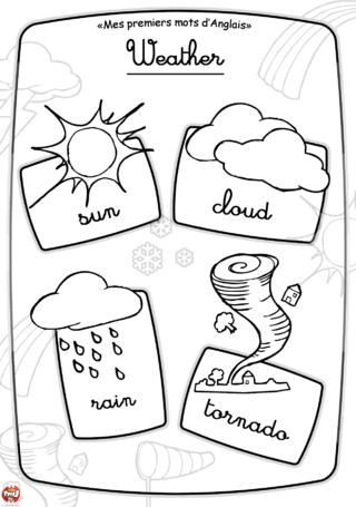 Coloriage: Imagier météo