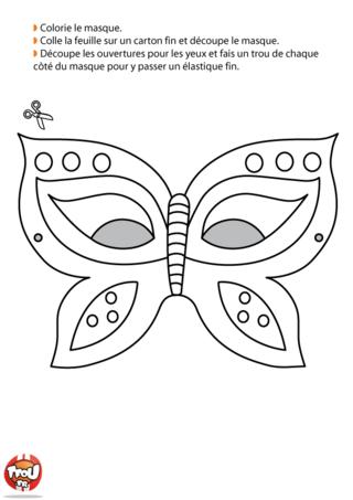 Que tu seras jolie avec ce superbe masque de papillon pour le Carnaval ? Imprime-le vite, découpe-le et colorie-le de mille couleur ! Ce sera un très beau déguisement.