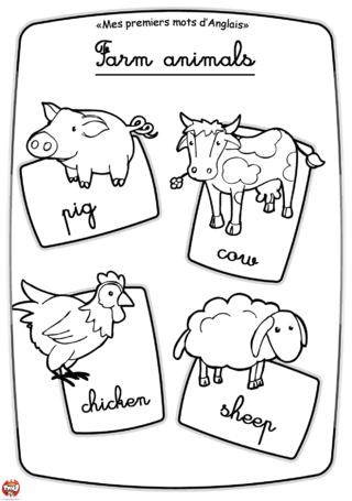 Coloriage: Les animaux de la ferme
