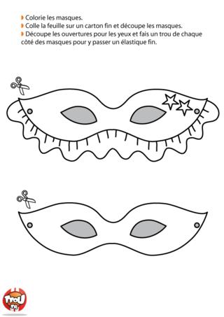 Les loups sont des masques traditionnellement portés pour le Carnaval pour qu'on ne puisse reconnaître personne. Imprime et colorie ces deux loups et finalise ton déguisement.