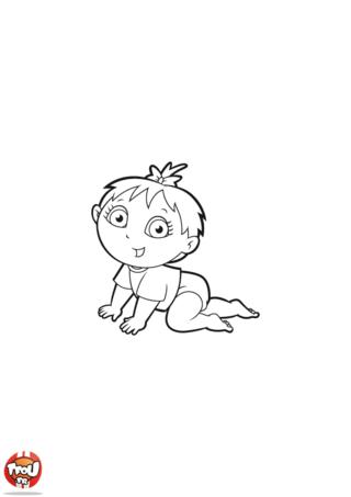 Coloriage: Petite fille Dora