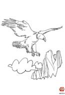 coloriage-aigle plane