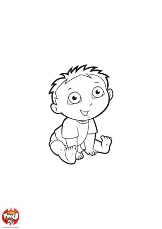 Coloriage: Petit garçon Dora 1