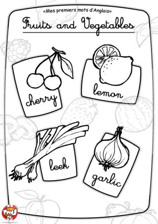 Coloriage: Imagier fruit et légume