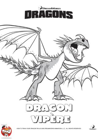 Coloriage: Dragon vipère