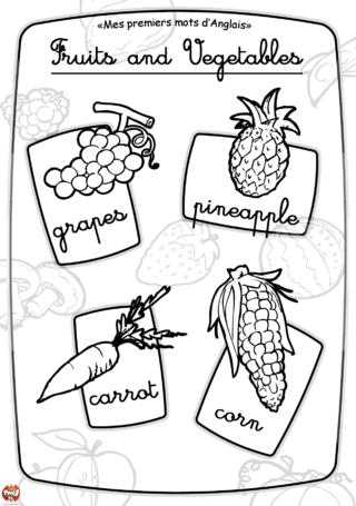 Coloriage: Imagier fruit et légume2