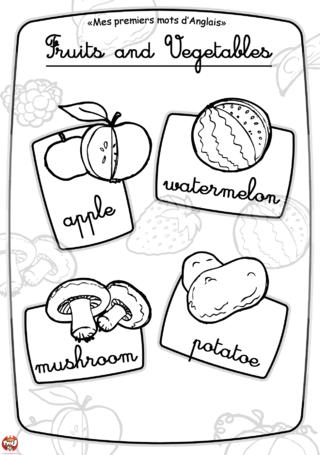 Coloriage: Imagier fruit et légume3