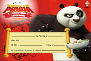 Invite vite tous tes copains à ta super fête grâce aux cartes d'invitation Kung Fu Panda !