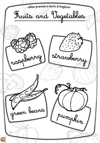 Coloriage: Imagier fruit et légume4