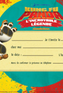 Carte d'invitation Tigresse