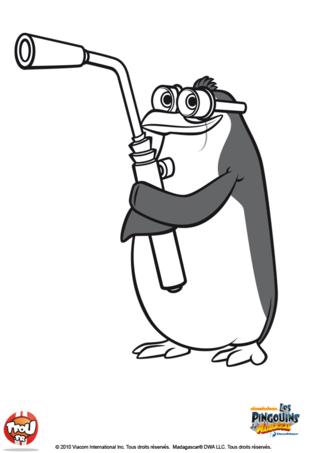 Coloriage: pingouin2