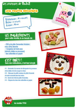 Activité : Recette fruits déguisés. Tu vas bientôt fêter ton anniversaire et tu ne sais pas quoi cuisiner pour tes amis ? Imprime vite cette recette facile et enfile ton tablier !