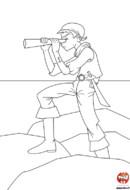 pirate et sa longue vue
