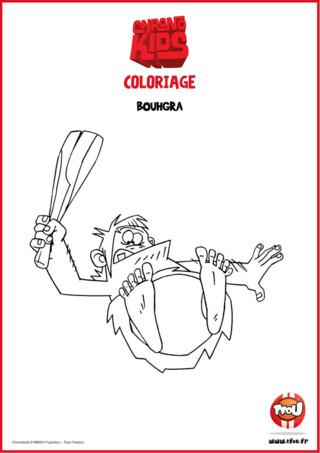 Retourne à l'Ère préhistorique avec Bouhgra ! Imprime gratuitement ce super coloriage de l'homme de Neandertal qui suit Marvin et Adèle dans leurs aventures sur TFou.fr !