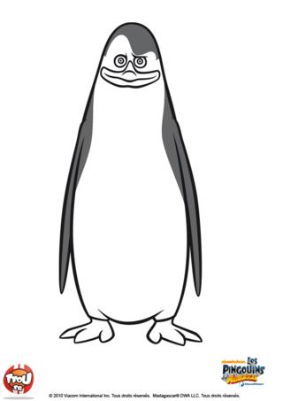 Coloriage: pingouin12