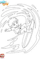 Diego surfe la déferlante