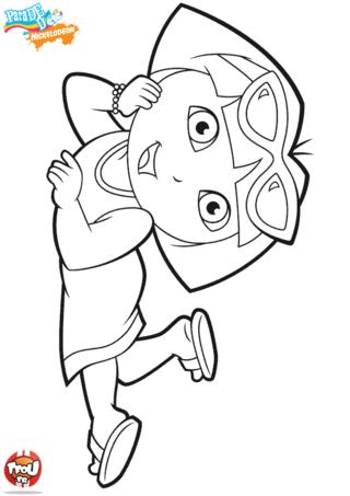 Coloriage: Dora en été