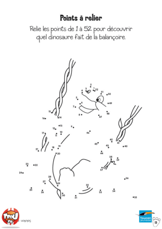 Coloriage: Point-par-point dinosaure