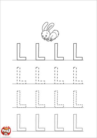 Coloriage: La lettre L en majuscule