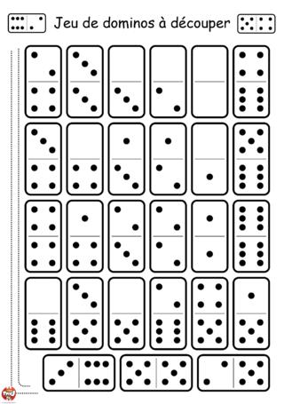 Coloriage: Domino classique