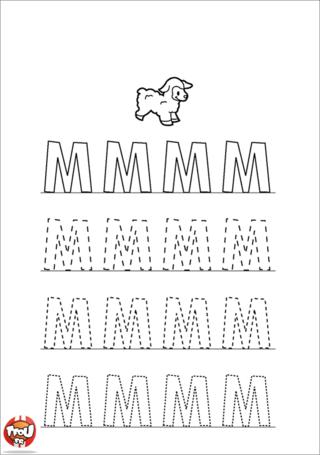 Coloriage: La lettre M en majuscule