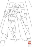 Super héros qui saute