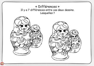 Coloriage: Les poupées russes