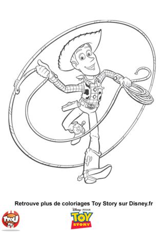 Coloriage: Woody le cowboy