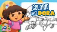 Jeu Dora L'Eploratrice : Colorie Avec Dora