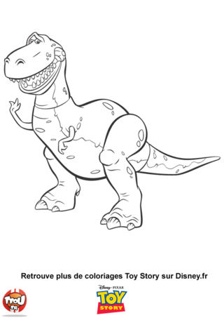 Coloriage: Rex le dinosaure