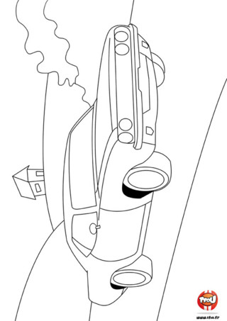 Coloriage : Voiture qui roule. Imprime vite gratuitement ce coloriage sur TFou.fr et à tes crayons ! Amuse toi à décorer ta voiture en la coloriant comme tu le souhaites.