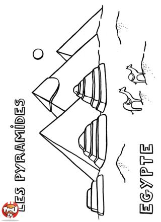Coloriage: Les pyramides