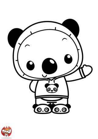 Coloriage: Tolee en panda